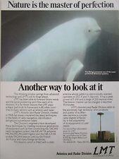 9/1977 PUB LMT AVIONICS RADAR MICROTACAN BELUGA DETECTION SYSTEM ORIGINAL AD
