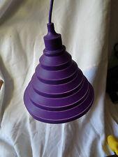 abat jour lampe silicone violet  douille e27 1 metre de fil et plafonnier