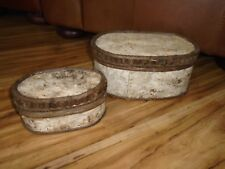Rustic Wooden Birch bark twig Storage Set of 2 Decor Home Cabin decor Accent