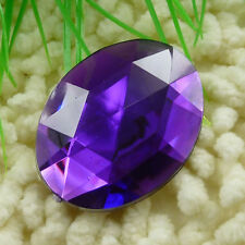 20pcs purple acrylic Flatback Rhinestone Faceted oval Gems 40x30mm ZH214