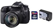 Canon EOS 70D + EF-S 18-135 mm IS + Zubehörpaket ( 32GB SDHC + 2.Akku ) ! 70 D