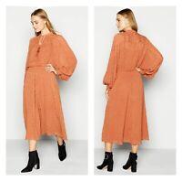 Holiday Party Debenhams Camel Sparkle Tassel Maxi Kaftan Dress Size 16