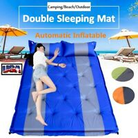 Double Self Inflating Pad Sleeping Cushion Mattress Air Bed Camping Hiking Mat