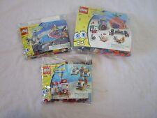 LOT 3 LEGO SETS SPONGEBOB 3815 3816 3818 NEARLY COMPLETE + INSTRUCTIONS