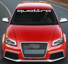 For AUDI QUATTRO VINYL STICKER Windshield BANNER JDM DECAL Graphic S4 S5 S6 Q7