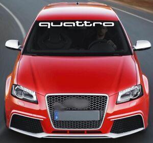 For AUDI QUATTRO VINYL STICKER Windscreen BANNER JDM DECAL Graphics S4 S5 S6 Q7