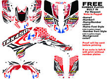 TRX450R LOGO NINETYSIX GRAPHIC KIT RED FULL WRAP 04-05 HONDA 450 TRX450
