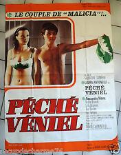 Affiche ancienne de cinema PECHE VENIEL LAURA ANTONELLI SALVATORE SAMPERI 1974