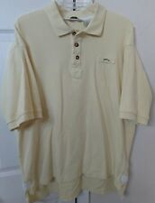 Orvis Mens Short Sleeve Polo Shirt Pale Yellow XL EUC