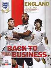 * ENGLAND v MOLDOVA (6th SEPTEMBER 2013) WORLD CUP QUALIFIER - MINT PROGRAMME *