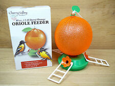 Art Line Orange Design Oriole Nectar Feeder 40oz 3 Removable Perches #5547