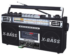 Portable Audio Player Radio Cassette X-Bass USB/SD Inputs Cassete to MP3 Convert
