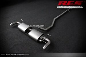 RES Valvtronic Catback+1 Tip Each Side FOR Land Rover Evoque 12-17 2.0T 3/5 Door