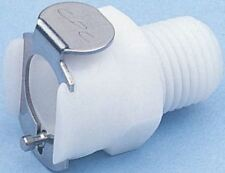 Straight Male Hose Coupling 1/4in Coupling Body - Valved, Pipe Thread, 1/4 in NP