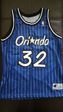 Rare Genuine 90's Shaquille O'Neal Orlando Magic Authentic Champion Jersey 44 M
