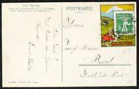 s2052) Schweiz Kochermarke GALACTINA 1909 auf Postkarte
