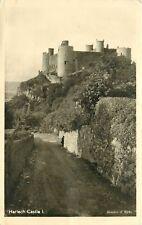 Harlech Castle Harlech England UK RPPC pm Postcard