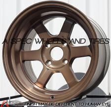 16X8 +10 16X9 +0 ROTA GRID-V 4X114.3 SPORT BRONZE RIM FIT AE86 240SX STAGGERED