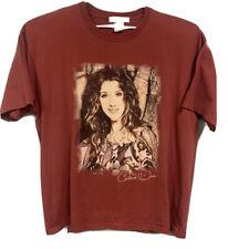 Vintage Celine Dion Pop Promo 2000s Red T Shirt Size XXL/2XL