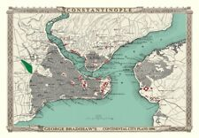 George Bradshaw'S CONTINENTAL Città Piano di Costantinopoli 1896 1000 pezzi Puzzle