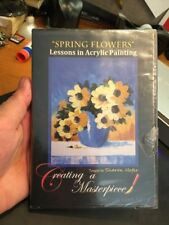 Spring Flowers Lessons In Acrylic Painting By Sharon Hofer Art Lessons DVD