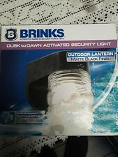 Brinks Dusk To Dawn Activated Security Light Outdoor Lantern Matte Black Finish