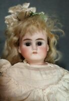 """ANTIQUE DOLL GERMAN BISQUE LEATHER BODY ABG 1235 ORIGIINAL BODY 16"""""""
