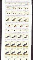S19549) Vatican 1989 MNH New Birds 8v Sheet not Folded