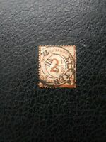 """Germany #27 Used, 1874 Surcharge, """"Elster"""" Cancel,  Scott Catalog Value $ 42.50"""
