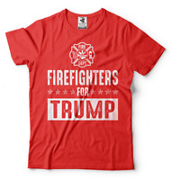 Firefighters for Trump 2024 Re-election campaign Donald Trump Republican Shirt