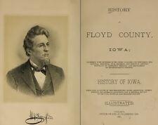 1882 FLOYD County Iowa IA, History and Genealogy Ancestry Family Tree DVD B38