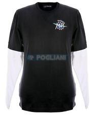 T-Shirt Homme Istituzionale M/L Mv Agusta Couleur Bleu/Blanc Taille XL Coton