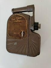 Vintage Univex TRUE VIEW 8 MM Cine Movie Camera  1930s + brown wind works