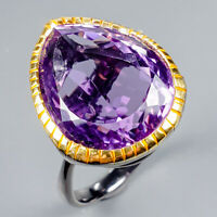 Sale Discount Ring Natural Amethyst 925 Sterling Silver Ring Size 9/R125037