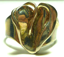 HAGIT GORALI ISRAEL HAND MADE MODERN STERLING SILVER HEART RING SIZE 10.25