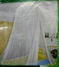 Hawk Standard Mosquito Net Fit Twin to Standard Double Bed White Indoor Outdoor