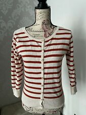 womens cardigans size 14 Striped Cover Up Button Up Casual Wear