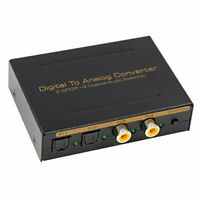 Blupow Dac Optical Digital-To-Analog Audio Converter Light & Coaxial Digital New