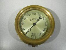 Vintage - ASHCROFT Brass TEST Pressure Gauge - Screw On Brass Bezel - Brass Base