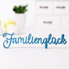 """Kleinlaut 3D-Schriftzug """"Familienglück"""" 32 Farben & 3 Größen Geschenkidee Geburt"""