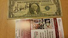 Signed Mobster Henry Hill Silver Dollar jsa#H33821, Coa & Hologram