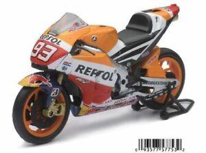 NEWRAY 57753 HONDA RC215V REPSOL model MotoGP motor bike Marc Marquez 1:12th