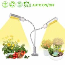 45W Dimmable 2-Head Plant LED Grow Lights Hydroponics Lamp Full Spectrum Veg UK