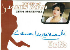 Women of James Bond Autograph Card WA6 Zena Marshall as Miss Taro in Dr. No