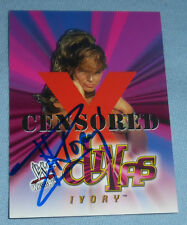 Ivory Signed WWF 2001 Fleer Wrestlemania WWE Card #64 Autograph Wrestling Divas