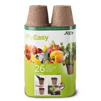 Jiffy Torf-Anzuchttöpfe, rund 6cm - 26 Stück Anzucht Stecklinge Pflanztöpfe