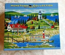 Hometown Collection 1000 Piece Puzzle - Owlhead, Maine Lighthouse Art by Heronim