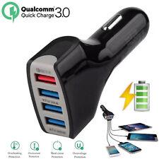 Qualcomm qc3.0 Rápido Carga 4 puertos cargador usb universal para coche Negro