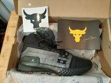 Men's Under Armour Project  Rock 1 Shoes Size 10.5 Black & Green 3020788-002