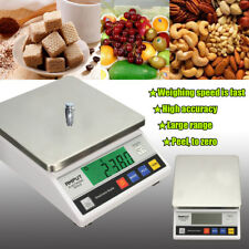 10Kg x 0.1g Electronic Weigh Digital Balance Scale 10kg 0.1g Precision + Adapter